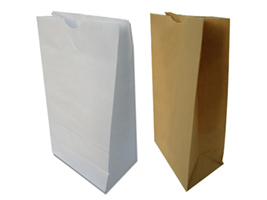 White Brown Bags